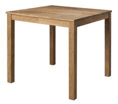 Speedy+Spisebord+-+Kvadratisk+spisebord+i+oljet+eik.+Bordet+er+pga.+størrelsen+perfekt+i+den+mindre+spisekroken+eller+på+kjøkkenet.