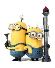 Minionki rozrabiają / Despicable Me 2 (Armed Minions) - plakat - cm Gdzie kupić? Minion Rock, Cute Minions, Minions Despicable Me, Funny Minion, Minion Stuff, Minion Pictures, Funny Pictures, Funny Pics, Hilarious