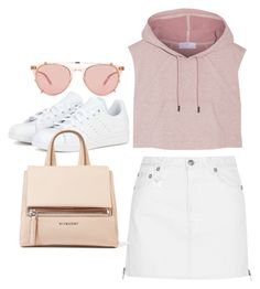 """""""Untitled #3416"""" by bubbles-wardrobe ❤ liked on Polyvore featuring adidas, R13, Garrett Leight and Givenchy"""