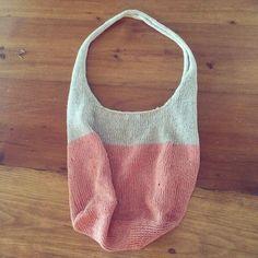 Knit market bag/every day bag #summerknit #diy #marketbag #tones #knitting #craft