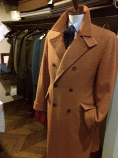 Ulster double breasted coat in Casentino (N.H Sartoria - Milan)