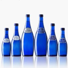 Ty Nant cobalt blue bottles to collect