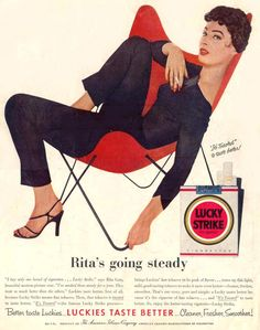 Lucky Strike Rita Gam Is Going Steady 1955 - Mad Men Art: The 1891-1970 Vintage Advertisement Art Collection