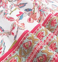 Printed Cotton Table Cloths By Chandni Chowk. Hand Made In India, Fair  Trade Furnishings