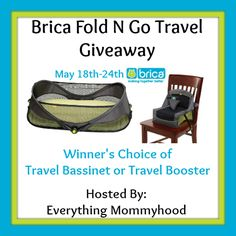 Bloom Into Baby: Brica Giveaway  Ends 5/24