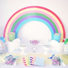 Chevron Rainbow Baby Shower by Candy Land Buffets  www.candylandbuffets.com