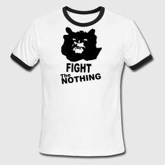 The Neverending Story 2 Gmork Fight the Nothing - Men's Ringer T-Shirt