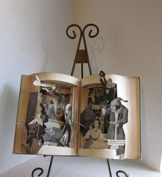 Altered book The Hunting of the Snark antique Book Pop up style via Etsy Book Stands, Any Book, Antique Books, Altered Books, Fantasy World, Alters, Up Styles, Alice In Wonderland, Pop Up