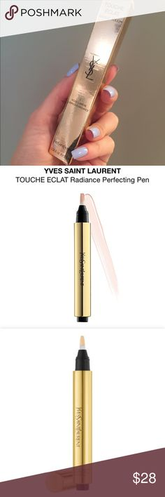 """Yves St. Laurent Touché Eclat Highlighter Pen Yves St Laurent in """"Rose Lumiere"""" (level 1) highlighting pen for light to medium skin. Unopened, still in box.   Pro photos taken directly from Sephora. Description from website below.                                                     What it is:  A highlighting pen that brightens, smooths, and perfects your complexion with a natural-looking, radiant finish. Yves Saint Laurent Makeup Luminizer"""