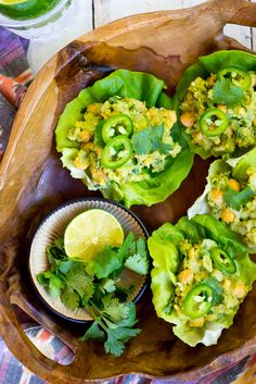 These Chickpea Avocado Lettuce Wraps come together in about 5 minutes and are perfect for a quick summer lunch! {gluten free, vegan}