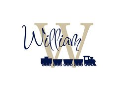 """Personalized Train Initial and Name Vinyl Wall Decal for Boy Baby Nursery or Boys Room 22""""H x 36""""W Wall Art. $45.00, via Etsy."""