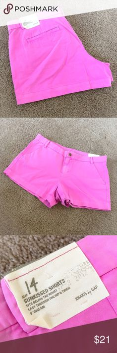 NWT Women's Gap Pink Shorts NWT Gap shorts size 14. They are bright pink, almost a bubblegum pink in color. Perfect for spring and summer to add that pop of color! GAP Shorts