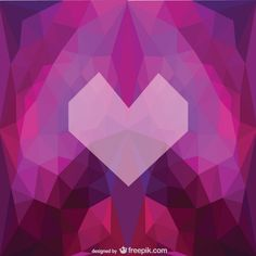 Triangle heart background