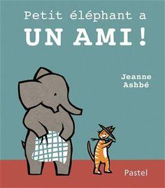 Tigre, l'ami de Petit éléphant, vient jouer avec lui. Ensemble, ils construisent une cabane.