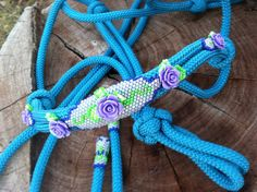 Beaded Rope Halter Horse Tack  Halter hand by HorsetailsBeadwork, $69.00