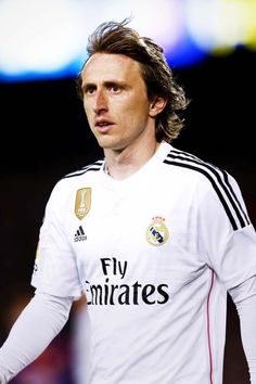 Luka Modric during the match between FC Barcelona and Real Madrid at Camp Nou.