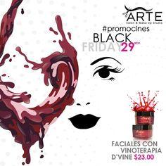 Este #BLACKFRIDAY puedes disfrutar de nuestra #promoción de faciales con vinoterapia #D'VINE  Con ingredientes naturales de vino, uvas y botánicos potentes. D'vine es un poderoso facial nutritivo e hidratante para el cuidado de la piel. #promociones #belleza #beauty #salondebelleza #faciales #aromaterapia #tratamientos #mujeresbella #salud #vinoterapia #mujeres #soloparaellas #pielhidratada #cuidadosdebelleza #cuidadosdelapiel