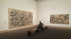 Jackson Pollock and Conrad Marca-Relli @ MoMa, 2005. #pollock #jaksonpollock #conradmarcarelli #marcarelli #abstractart #moma #momanyc #nyc #art #contemporaryart #ny #american
