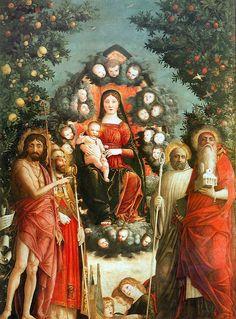 https://flic.kr/p/f1kpPi | Trivulzio Madonna | 1494-1497. Tempera on canvas. 287 x 214 cm. Castello Sforzesco, Museo Civico d'Arte Antica, Milan.