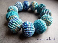 Rough cut extruder beads | Polymer Clay, Fimo | Vera Kleist Thom | Flickr