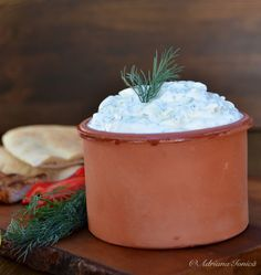 Cooking is love you can taste Tzatziki, Moscow Mule Mugs, Canning, Tableware, Dinnerware, Home Canning, Tablewares, Place Settings, Conservation