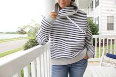 Women's Cowl Neck Sweatshirt – Free Pattern