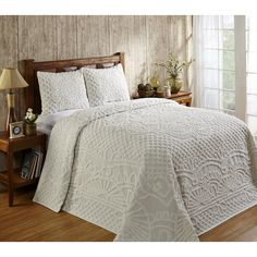 This elegant comforter set is crafted of 100 percent cotton for a soft look and feel. Subtle designs add the perfect touch to this conveniently machine washable set.