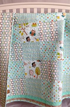 Modern Baby Quilt featuring Riley Blake Life by KimsQuiltingStudio, $149.99.   Cute