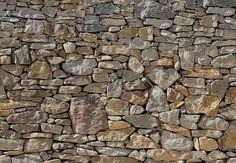 Fotobehang Komar - Stone Wall - FotobehangFactory.nl