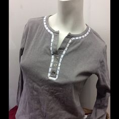 Spanner shirt Grey sport wear with rivets Tops