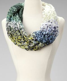 Take a look at this Green Floral Infinity Scarf by Fine Print: Women's Scarves on @zulily today!