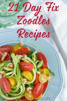 Zoodles are easy to make and a great way to cut fat and carbs from pasta dishes. These 21 Day Fix Zoodles Recipes are perfect for meal planning!