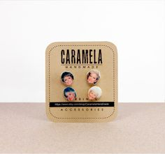 The Golden Girls Stud Earrings / set of 4 stud by CaramelaHandmade