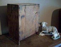 Wonderful early child's jelly cupboard - from Early Country Antiques