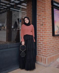 Casual Hijab Outfit, Hijab Chic, Ootd Hijab, Casual Dresses, Hijab Gown, Long Skirt Fashion, Modele Hijab, Hijab Fashion Inspiration, Girl Hijab