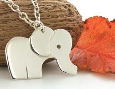 Sterling Silver Elephant Pendant Necklace via Etsy.