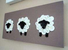 Button Sheep Nursery Decor- this would look so cute in brynnie's room-could do this with white paper circles instead of buttons Sheep Crafts, Home Crafts, Diy And Crafts, Craft Projects, Sewing Projects, Crafts For Kids, Projects To Try, Arts And Crafts, Jar Crafts