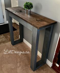 Unconventional Knowledge About The Easiest DIY Sofa Table That You Can't Learn From Books - the easiest DIY couch Diy Sofa Table, Diy Couch, Sofa Tables, Console Table, Coffee Tables, Easy Diy, Dyi, Home Living Room, Ideal Home