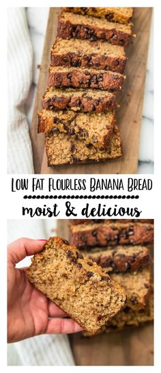 This Low Fat Flourless Banana Bread is absolutely delicious and easy! You can wh… This Low Fat Flourless Banana Bread is absolutely delicious and easy! You can whip it up in 5 minutes right in your blender! Gluten free and dairy free! via Kim's Cravings Low Fat Banana Bread, Banana Bread Recipes, Oatmeal Recipes, Dairy Free Overnight Oats, Diabetes, Low Fat Desserts, Healthy Desserts, Easy Desserts, Snacks