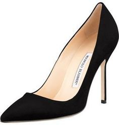 Black Suede Pumps by Manolo Blahnik. Buy for $595 from Neiman Marcus
