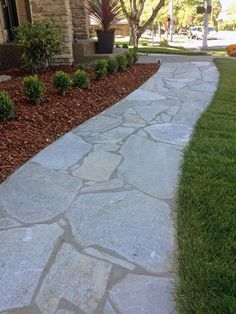 flagstone walkway with edge detail sparks landscape concepts