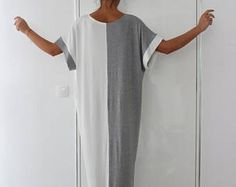 SALE ON 20 % OFF Grey and White Caftan Dress, Maxi Dress, Oversized dress, Party Dress, Kaftan, Summer Dress, Abaya dress