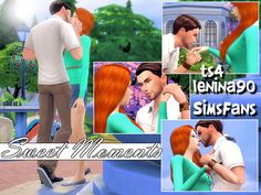 Downloaded - Sims 4 Updates: Sims Fans - Poses : Sweet Moments poses by lenina_90, Custom Content Download!