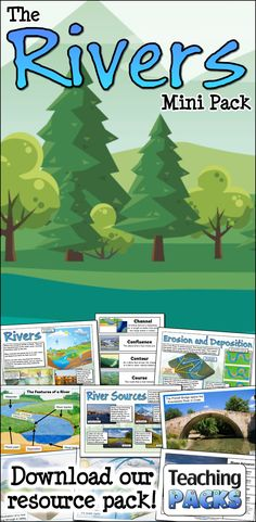 Explore the rivers of the world with our fantastic mini pack! This includes a full topic guide, glossary of related terms, activity resources and classroom display materials!  Available from https://www.teachingpacks.co.uk/the-rivers-mini-pack/