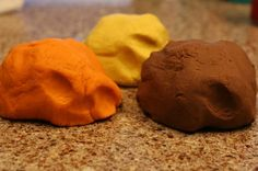 Fall dough-  pumpkin pie spice, cinnamon or cocoa, lemon, ginger or apple