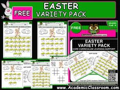 FREE EASTER EDUCATIONAL PRODUCTS