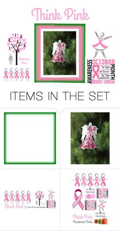 """""""Think Pink"""" by alidishu ❤ liked on Polyvore featuring art"""