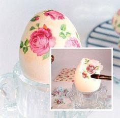 ♥Just Girly Things♥: Ideje za farbanje Uskršnjih jaj Egg Crafts, Easter Crafts, Diy And Crafts, Crafts For Kids, Decoupage, Easter Peeps, Just Girly Things, Egg Art, Gastronomia