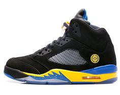 super popular 57f30 c5728 2018 New Arrival Air Jordan 5 Retro Shanghai Black Varsity Maize Varsity  Royal Black