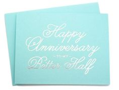 Pretty blue and silver makes for a sweet anniversary card. www.mooreaseal.com